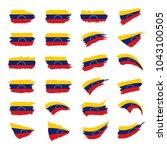 venezuela flag  vector... | Shutterstock .eps vector #1043100505