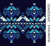 ethnic boho seamless pattern.... | Shutterstock .eps vector #1043103451
