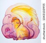 griffin. watercolor... | Shutterstock . vector #1043103955