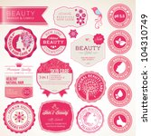 Collection of cosmetics labels and badges | Shutterstock vector #104310749