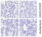 gentle lace seamless pattern...   Shutterstock .eps vector #1043119339