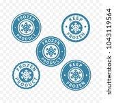keep frozen  frozen food ... | Shutterstock .eps vector #1043119564