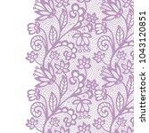 seamless lace border. vector... | Shutterstock .eps vector #1043120851