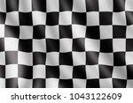 waving checkered flag ... | Shutterstock . vector #1043122609