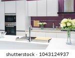 modern  bright  clean kitchen... | Shutterstock . vector #1043124937
