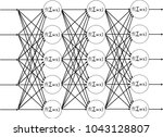artificial neural network | Shutterstock .eps vector #1043128807