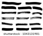 dry vector brush strokes  | Shutterstock .eps vector #1043131981