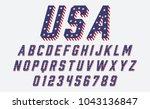 font usa flag stars and stripes ...   Shutterstock .eps vector #1043136847