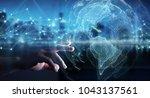 businesswoman on blurred... | Shutterstock . vector #1043137561