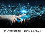 businessman on blurred...   Shutterstock . vector #1043137627
