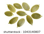 pumpkin seeds or pepitas ... | Shutterstock . vector #1043140807