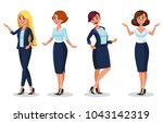 stock vector woman dresscode... | Shutterstock .eps vector #1043142319