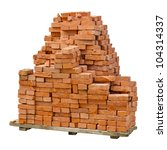 A Stack Of Red Clay Bricks...