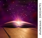 magic is a fantastic book on a... | Shutterstock . vector #1043144791