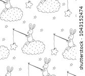 seamless pattern with cute...   Shutterstock .eps vector #1043152474