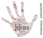 vector conceptual creative idea ... | Shutterstock .eps vector #1043160709