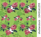 seamless pattern.watercolor... | Shutterstock . vector #1043161255