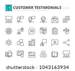 Outline Icons About Customer...