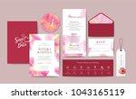 set of wedding card template...   Shutterstock .eps vector #1043165119