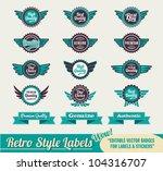 retro vintage premium quality... | Shutterstock .eps vector #104316707