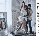he will never let her go. full... | Shutterstock . vector #1043167714