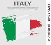 italian flag. flag of italy ... | Shutterstock .eps vector #1043172265