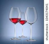 transparency wine glass. empty... | Shutterstock .eps vector #1043174041