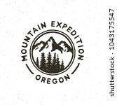 vintage wilderness logo. hand... | Shutterstock .eps vector #1043175547