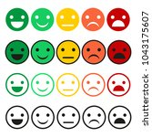 emoticon vector set. emoticon... | Shutterstock .eps vector #1043175607