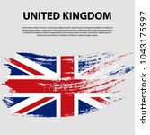 flag of the united kingdom of... | Shutterstock .eps vector #1043175997