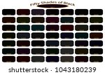 shades of black color isolated... | Shutterstock .eps vector #1043180239