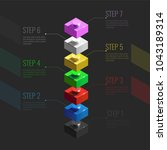 infographic concept from... | Shutterstock .eps vector #1043189314