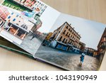 Small photo of Open book with venice image photobook