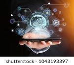 view of an international... | Shutterstock . vector #1043193397