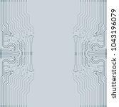 vector flat circuit board... | Shutterstock .eps vector #1043196079