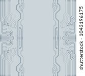 abstract vector high tech... | Shutterstock .eps vector #1043196175