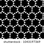 seamless pattern with dotted... | Shutterstock . vector #1043197369
