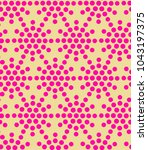 seamless pattern with dotted... | Shutterstock . vector #1043197375