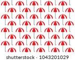 umbrella pattern.   ... | Shutterstock .eps vector #1043201029