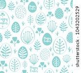 seamless minimal easter vector... | Shutterstock .eps vector #1043202529