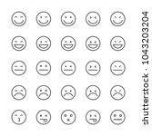 set outline emotions icons  | Shutterstock .eps vector #1043203204