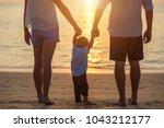 Family On The Beach Concept ...