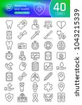 medicine and health line icons... | Shutterstock .eps vector #1043215339