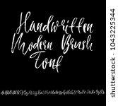 handdrawn dry brush font....   Shutterstock .eps vector #1043225344