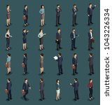 isometric people isometric... | Shutterstock .eps vector #1043226334