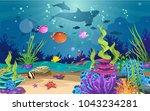 marine habitats and the beauty... | Shutterstock .eps vector #1043234281