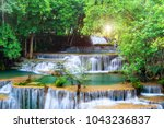 huai mae kamin waterfall... | Shutterstock . vector #1043236837