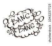 hand drawn speech bubble with... | Shutterstock .eps vector #1043237725