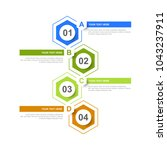 infographic design template... | Shutterstock .eps vector #1043237911