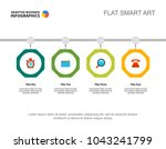four points process chart.... | Shutterstock .eps vector #1043241799